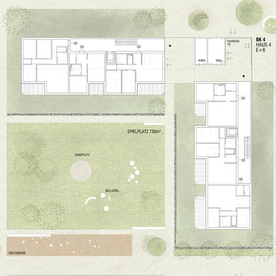 Erdgeschosszone mit Wohnhof